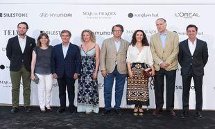 De izda. a dcha: Eduardo Petrossi, Consejero Delegado del grupo Mahou,...