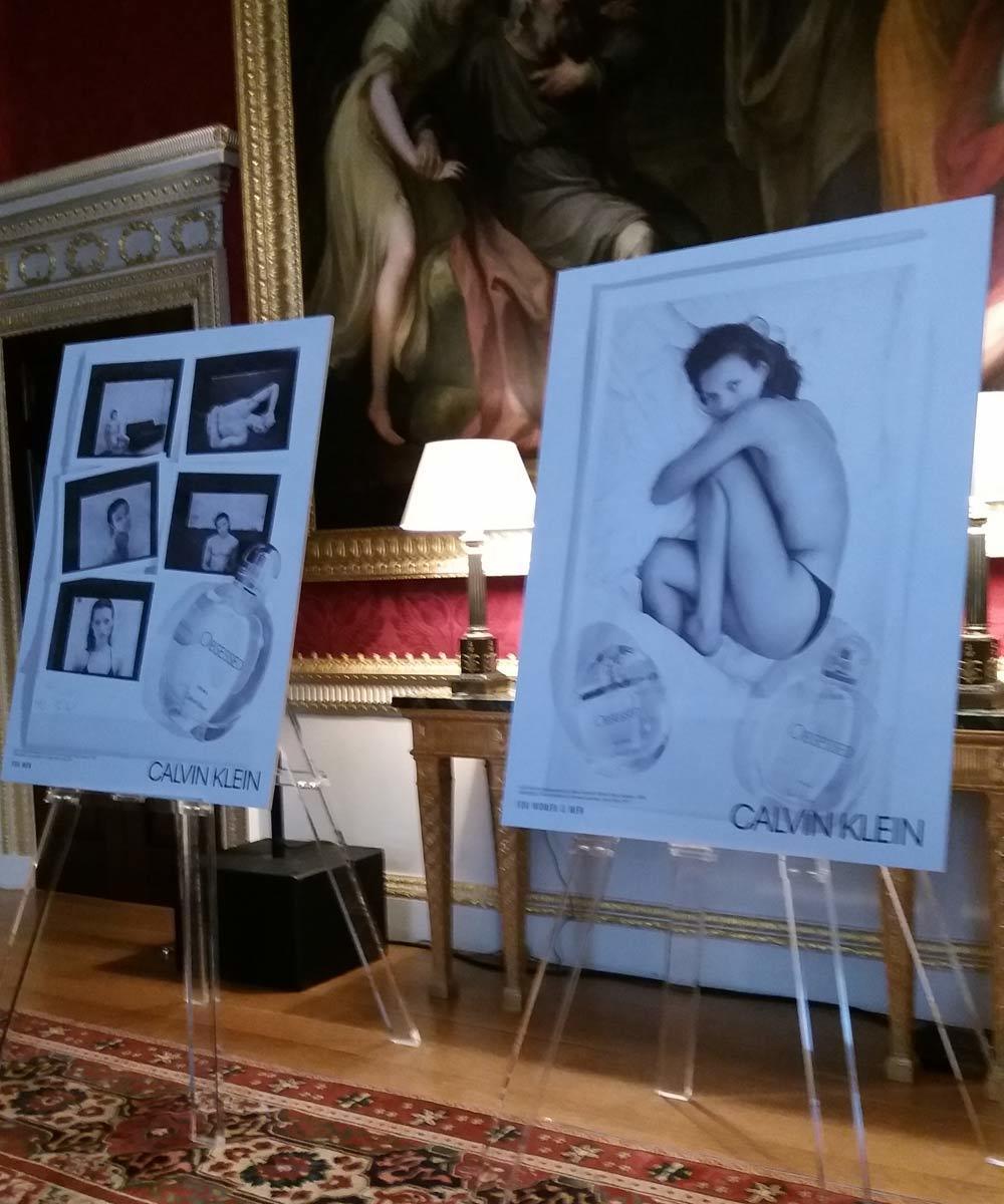 Visuales de la campaña de las fragancias para hombre y para mujer...