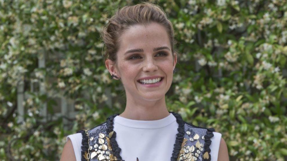 Emma Watson en la presentación de París