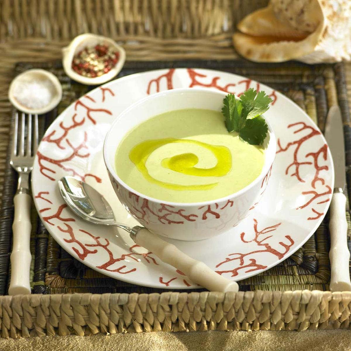 Gazpacho de aguacate y tomates verdes 20 cremas fr as for Cenas frias ligeras