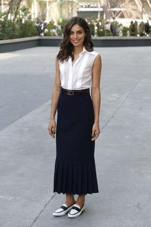 La modelo Shlomit Malka protagoniza el look del día.