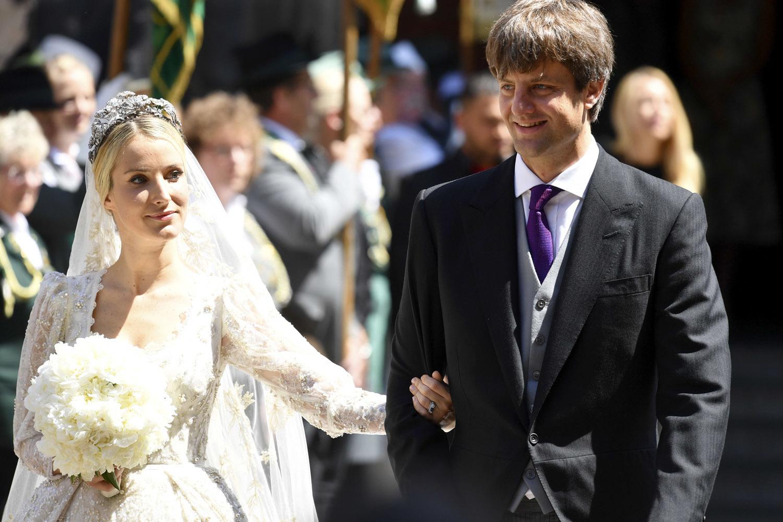 Ernesto Augusto de Hannover y Ekaterina Malysheva a su salida de la...
