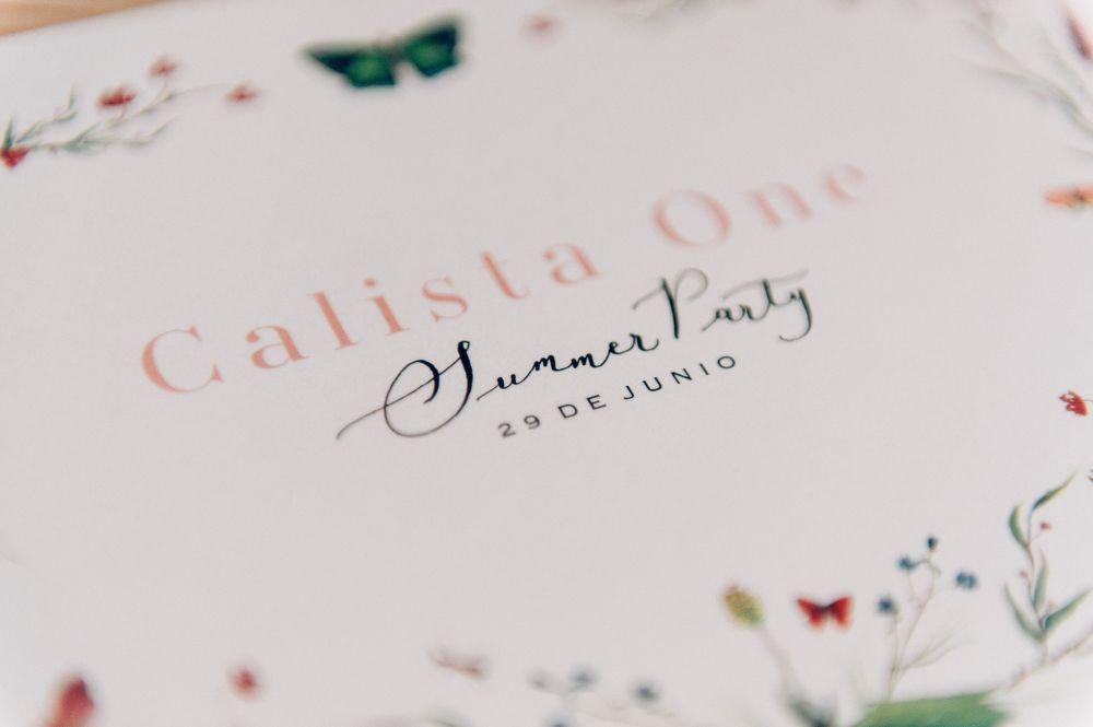 Invitación, diseñada por Weddink, para 5ª edición Calista One...