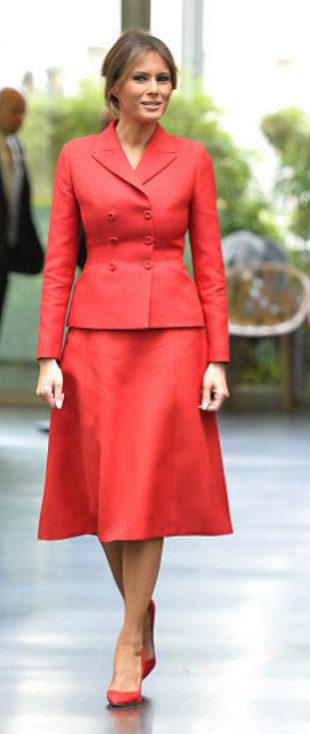 Melania Trump, durante su visita oficial a París.