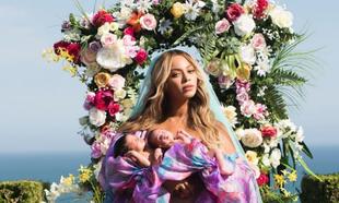 Beyoncé, en la imagen que ha publicado en Instagram con sus mellizos...
