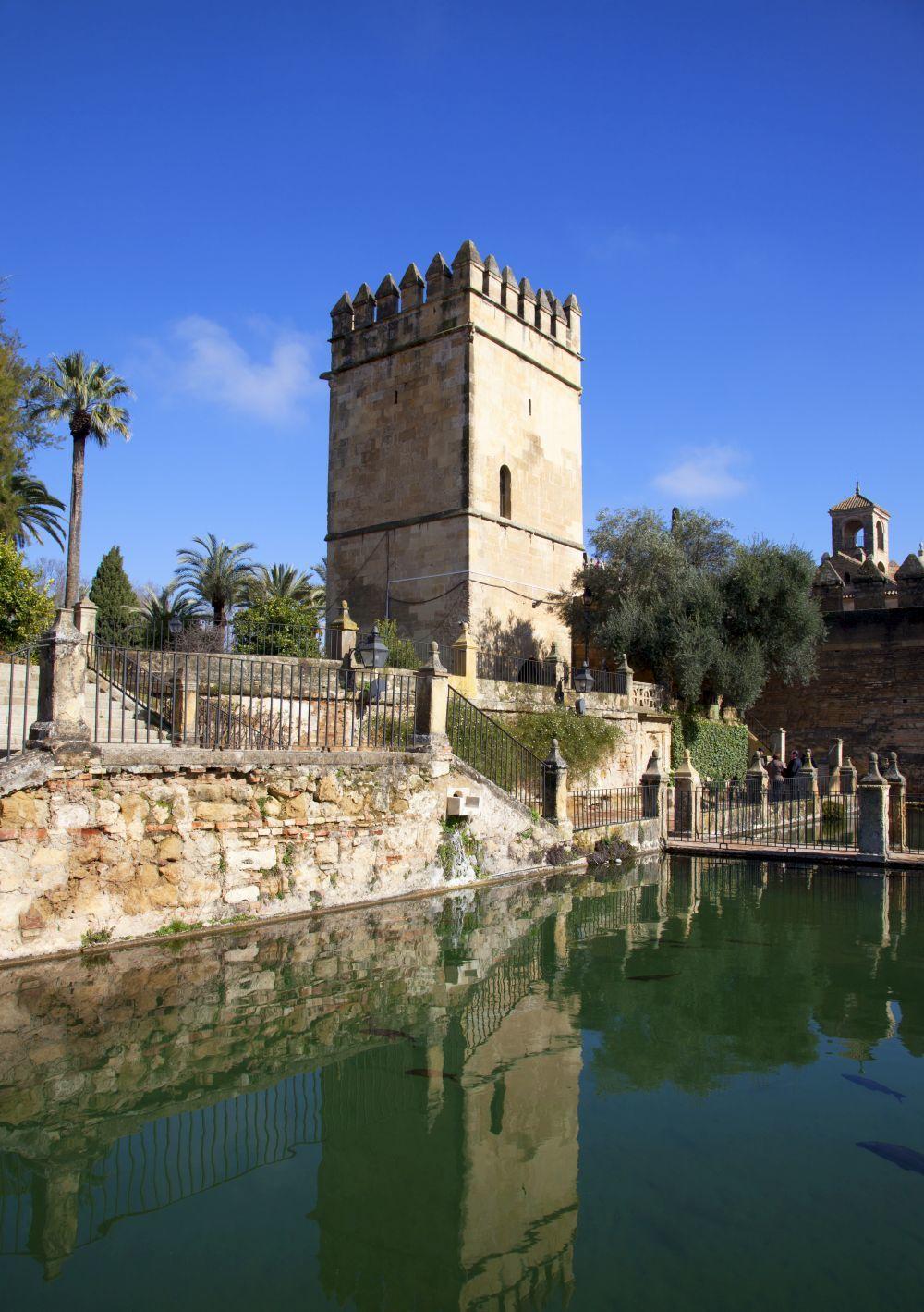 Alcázar de los Reyes Cristianos en Córdoba.