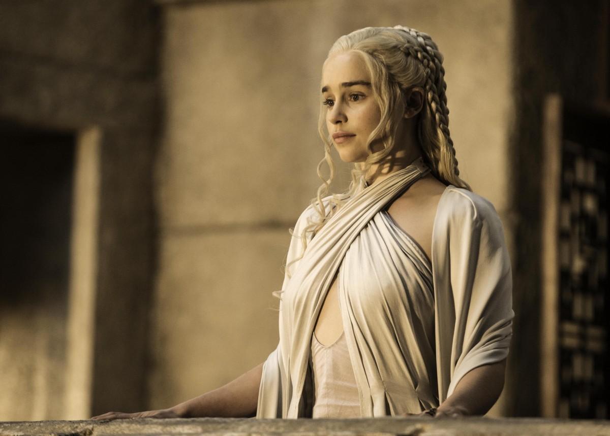 Emilia Clarke en su papel de Daenerys Targaryen.