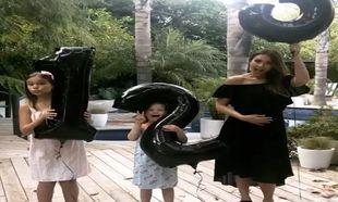 Jessica Alba junto a sus dos hijas
