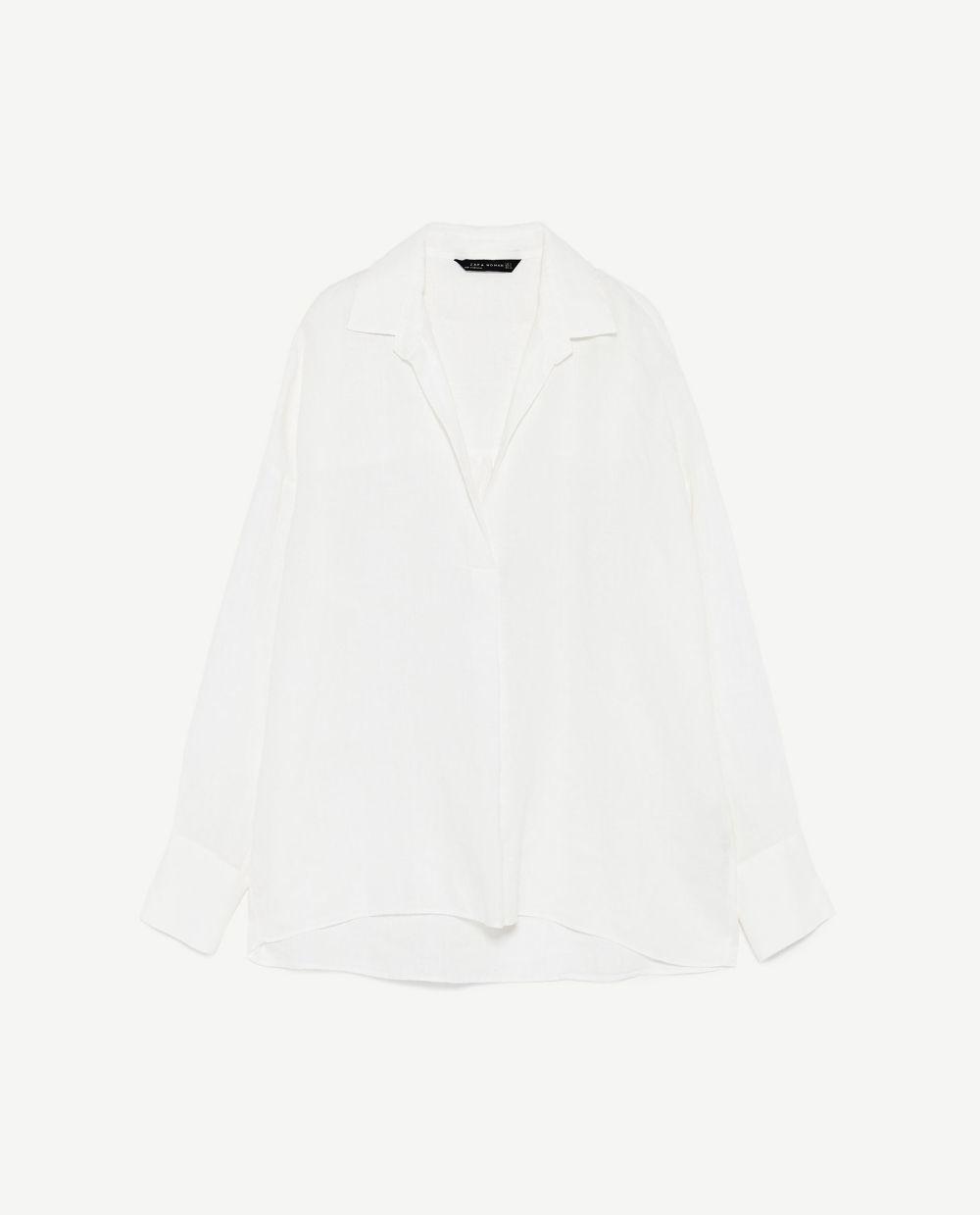 Camisa de lino, Zara (29.95 euros).