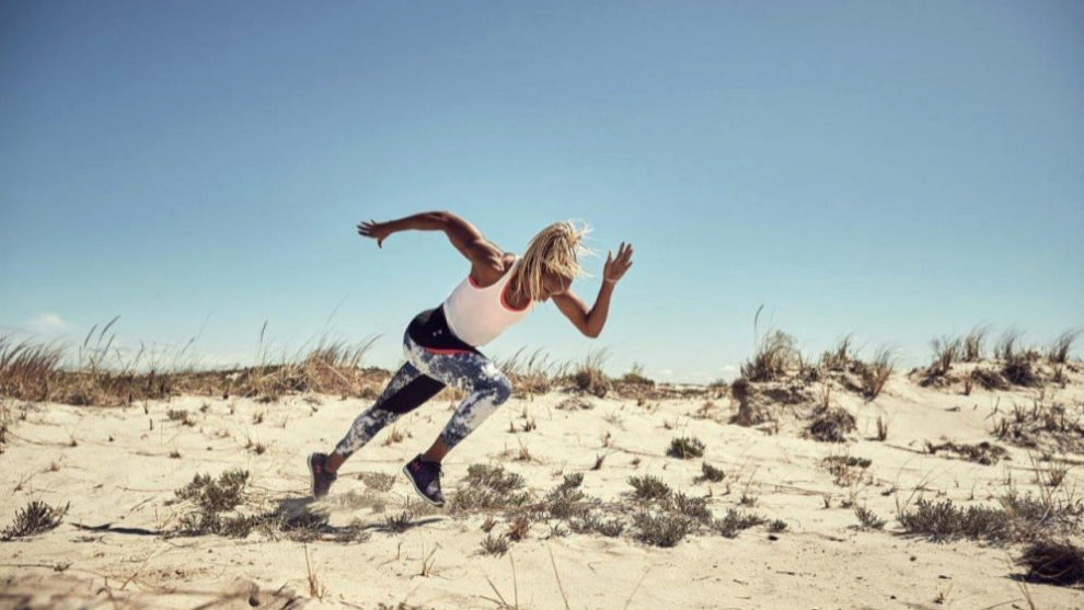 La velocista y campeona mundial Natasha Hastings