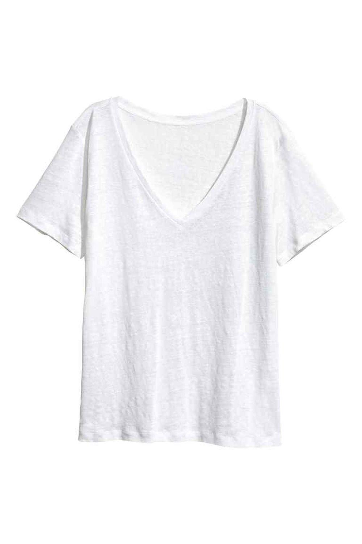 Camiseta de lino H&M (14.99 euros).