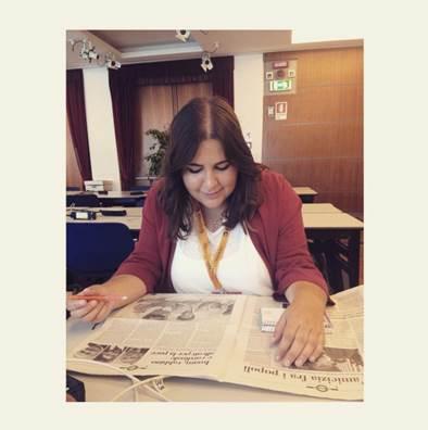 María Serrano no puede dejar de escribir ni en vacaciones.