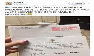 Respuesta de los Obama a la invitación de boda