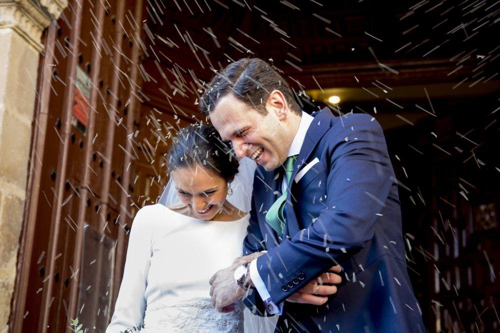 Teresa y Juanan se casaron en  una boda de aires campestres con el...