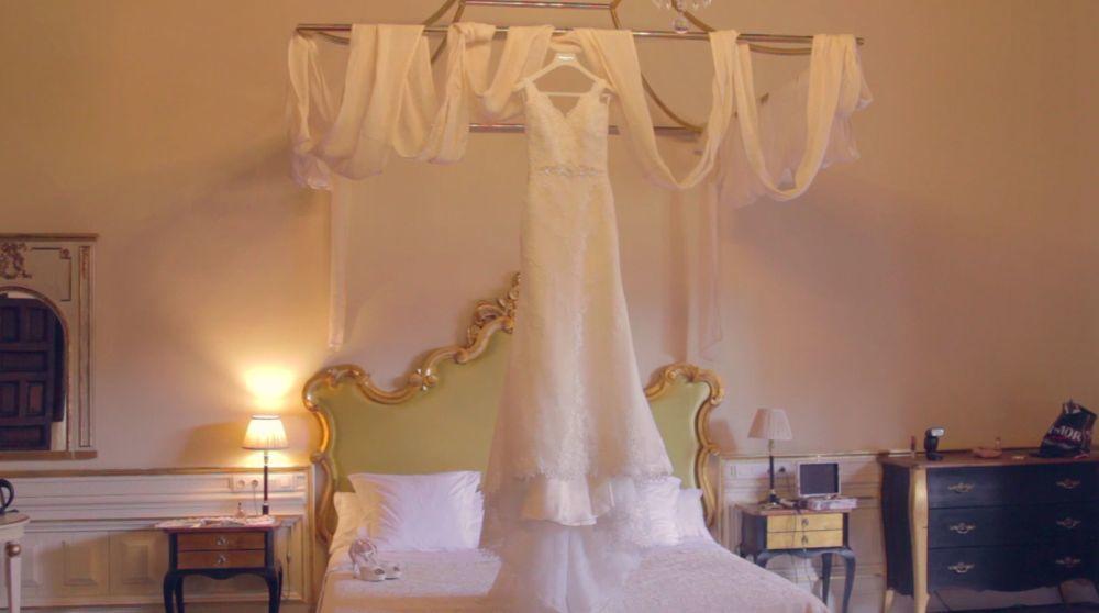 La novia llevó un vestido de Pronovias.