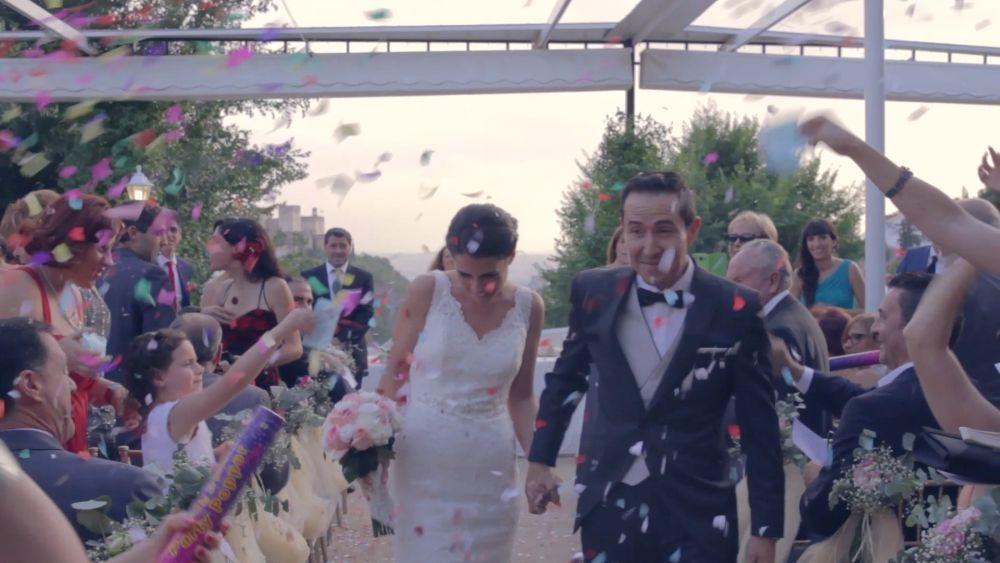 Los novios se casaron en una ceremonia civil La Chumbera, un...