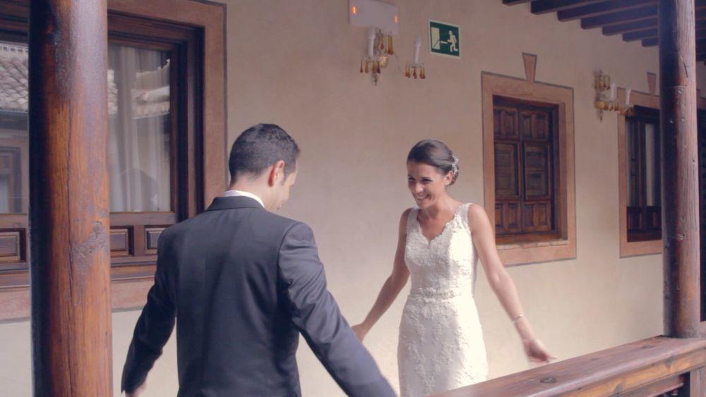 Como detalle original, Inma y Rubén decidieron verse vestidos de...