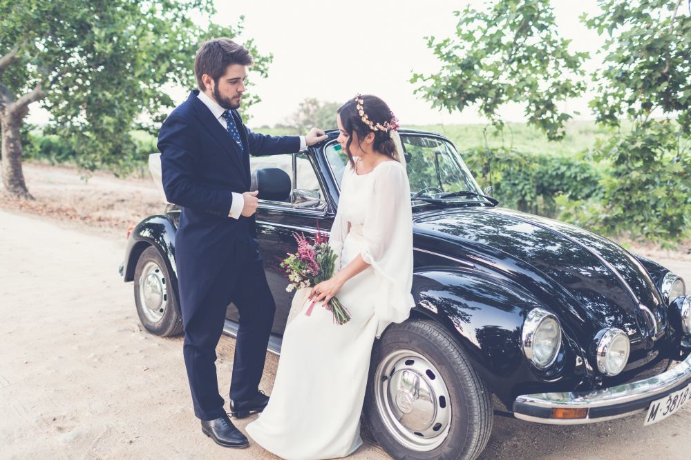 Marta y Edu se casaron en una boda al aire libre y con detalles...