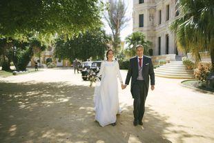 Sara y Ernesto se casaron en una boda con toques antiguos celebrada en...