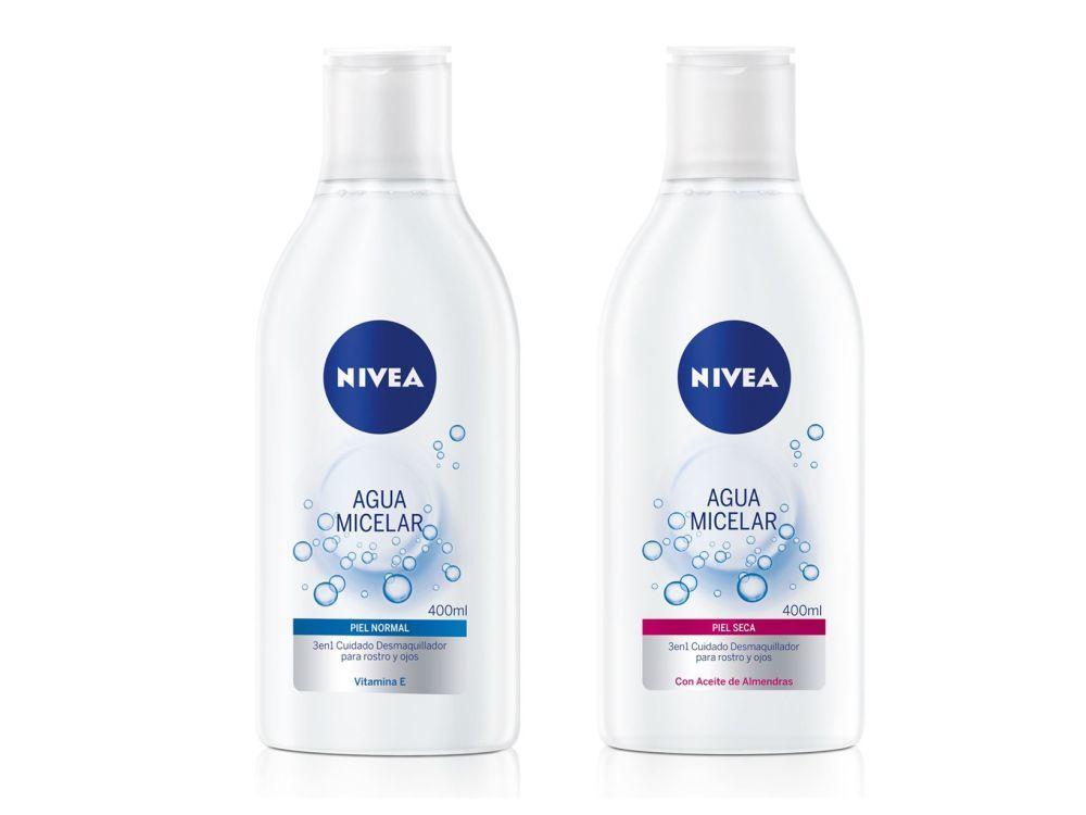Agua Micelar Piel Normal y Agua Micelar Piel Seca, de Nivea.