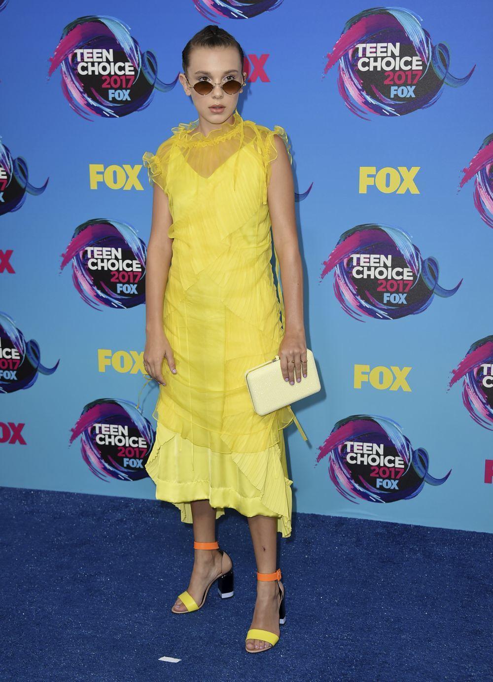 La actriz de Stranger Things, Millie Bobby Brown, acudió a los Teen...