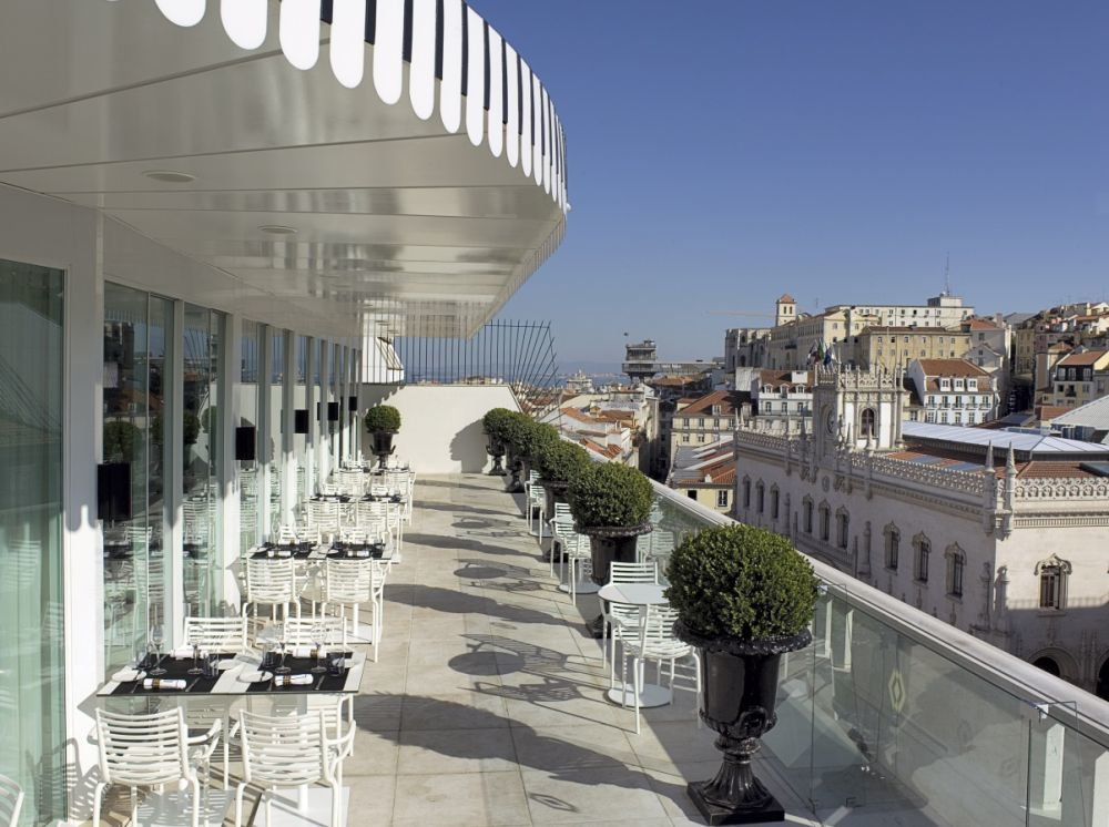 Terraza del Hotel Altis en Lisboa
