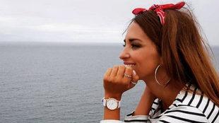 Paula Echevarría disfrutando de las vistas de su pueblo, Candás.