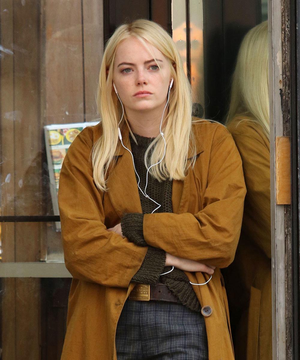 Emma Stone con el nuevo corte de pelo tendencia de melena midi maxi en...