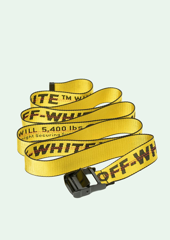 Cinturón amarillo industrial, de Off White (154 euros)