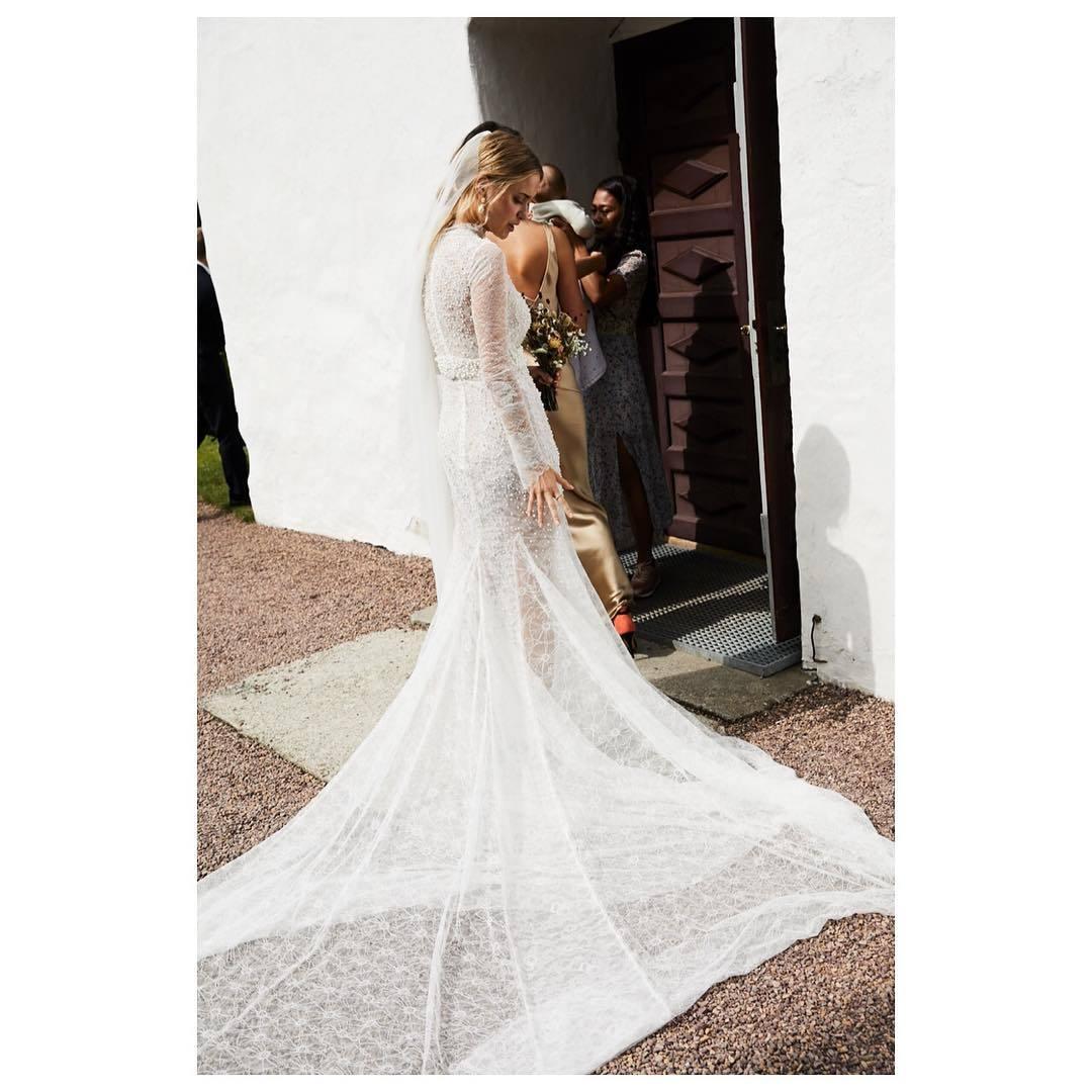Pernille Teisbaek el día de la celebración de su boda con Philip...
