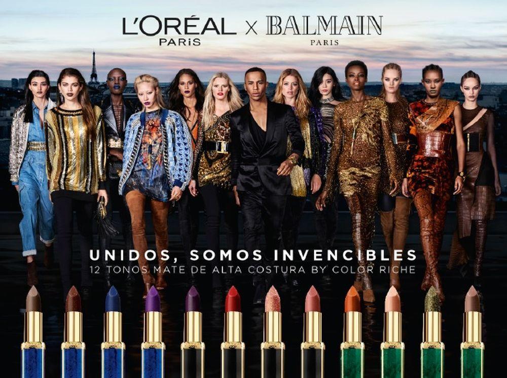 Campaña de Unidos Somos Invenciables, L'oréal x Balmain