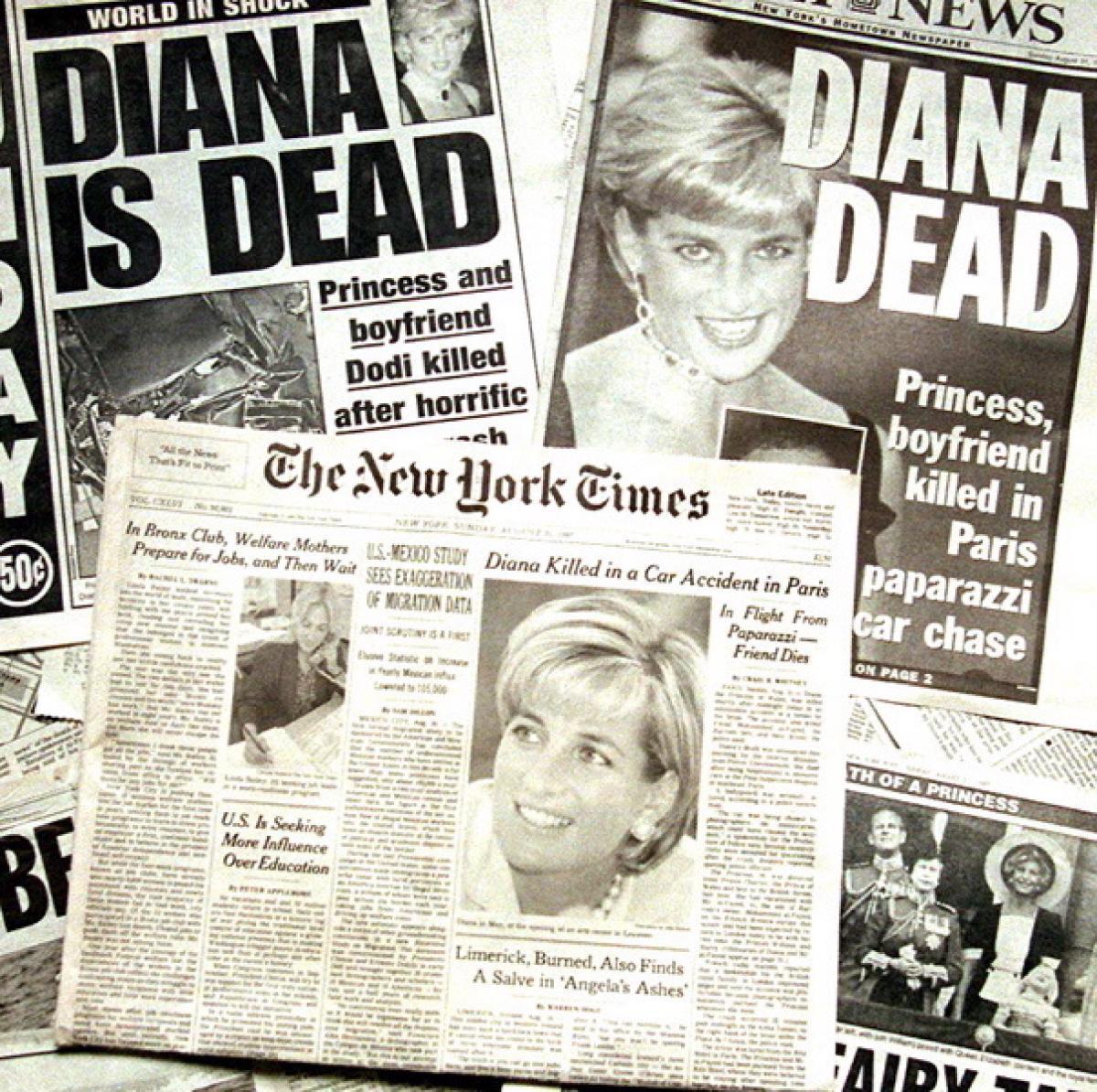 La prensa internacional, con la noticia de la muerte de Diana en...