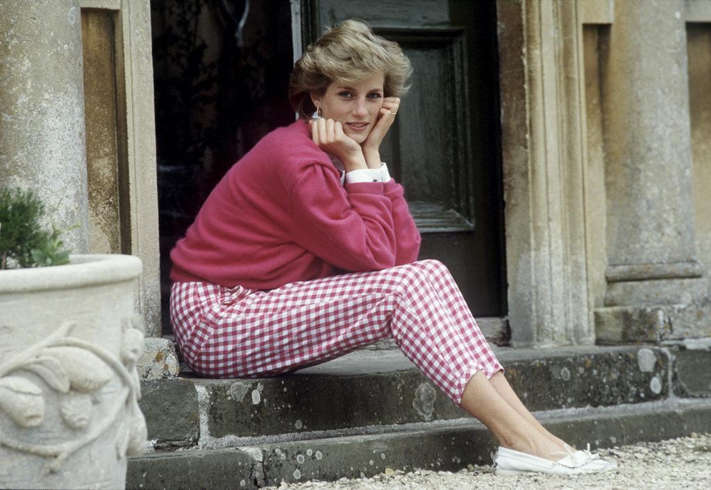 La princesa Diana en su casa de Highgrove, en Gloucestershire.