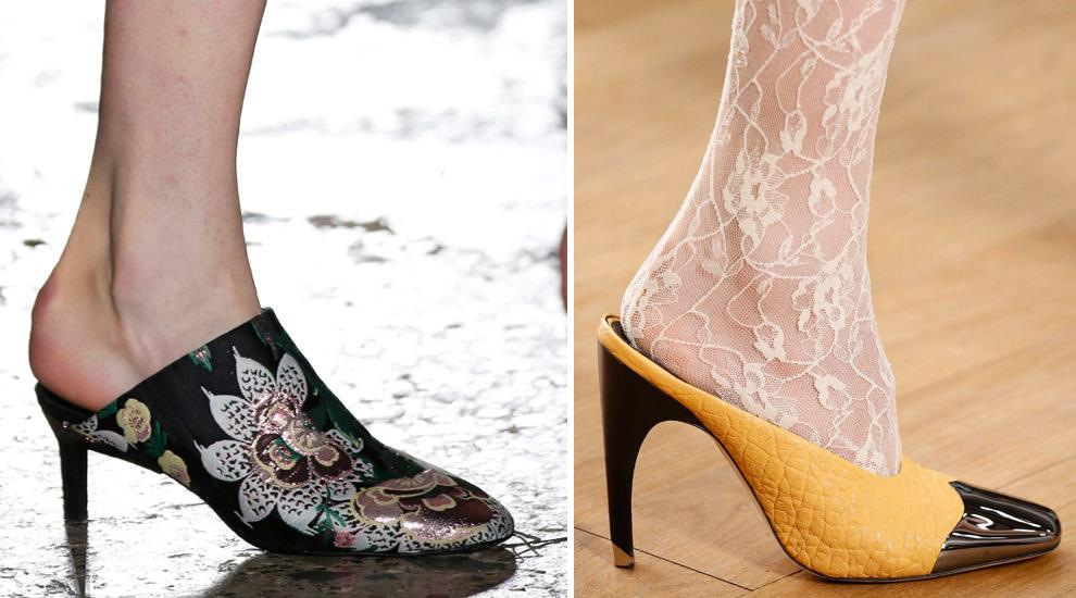 ¡Se llevan los zapatos mules! La moda obliga a llevar los talones...