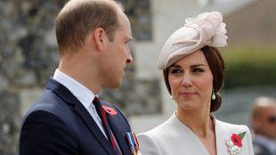 Kate Middleton y el príncipe Guillermo durante  uno de sus últimos...