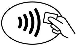 Símbolo de admisión de pagos contactless