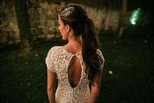 Eugenia y Ramón se casaron en un antiguo caserío rehabilitado en una...