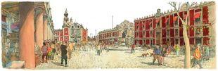 Plaza de Santo Domingo, en el Centro Histórico de México Distrito...
