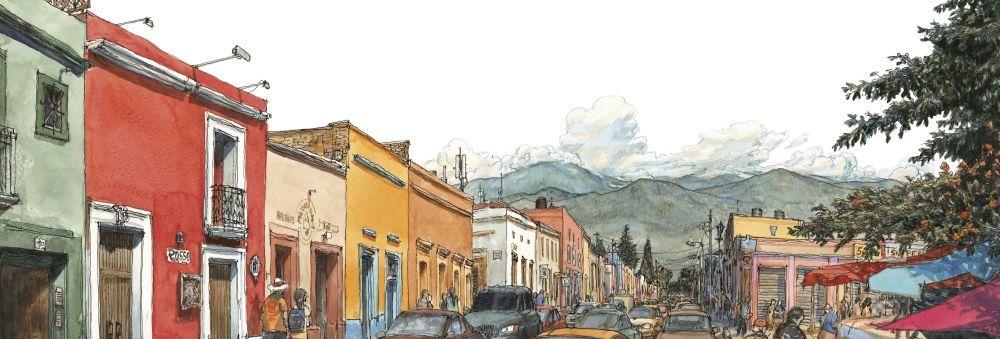 Calle Manuel Doblado, en el centro histórico de Oaxaca.