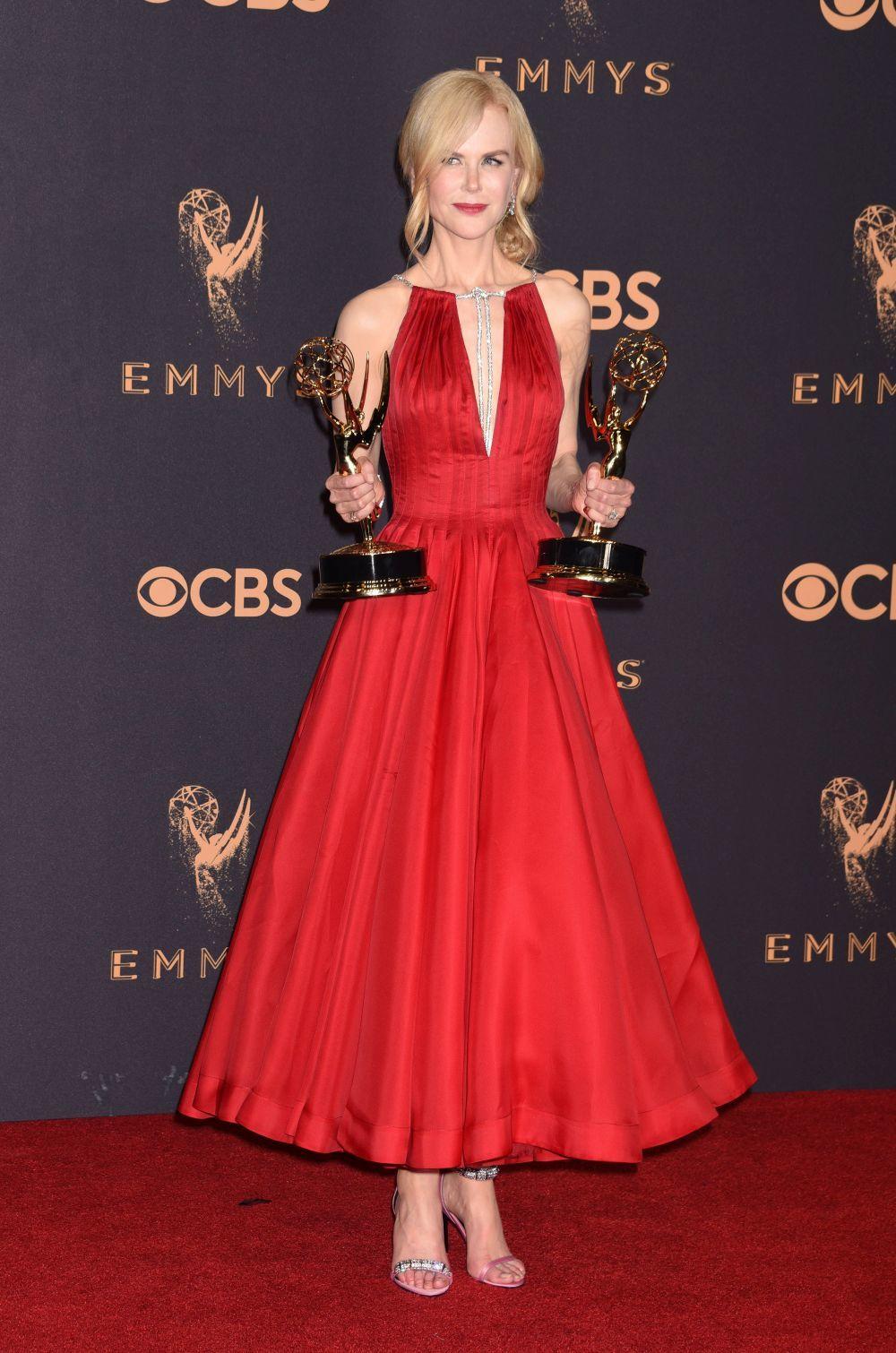 Nicole Kidman recogió dos premios Emmy por Big Little Lies.