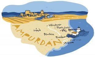 Mapa de Ampurdán