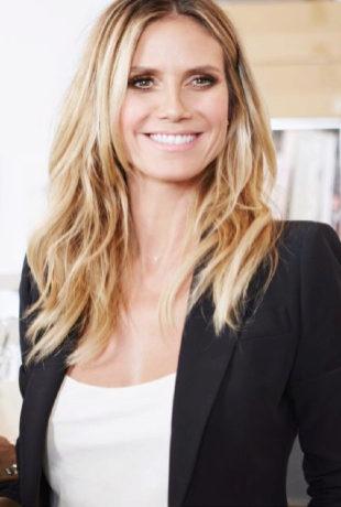 Heidi Klum, durante la presentación de su colección para Lidl en...