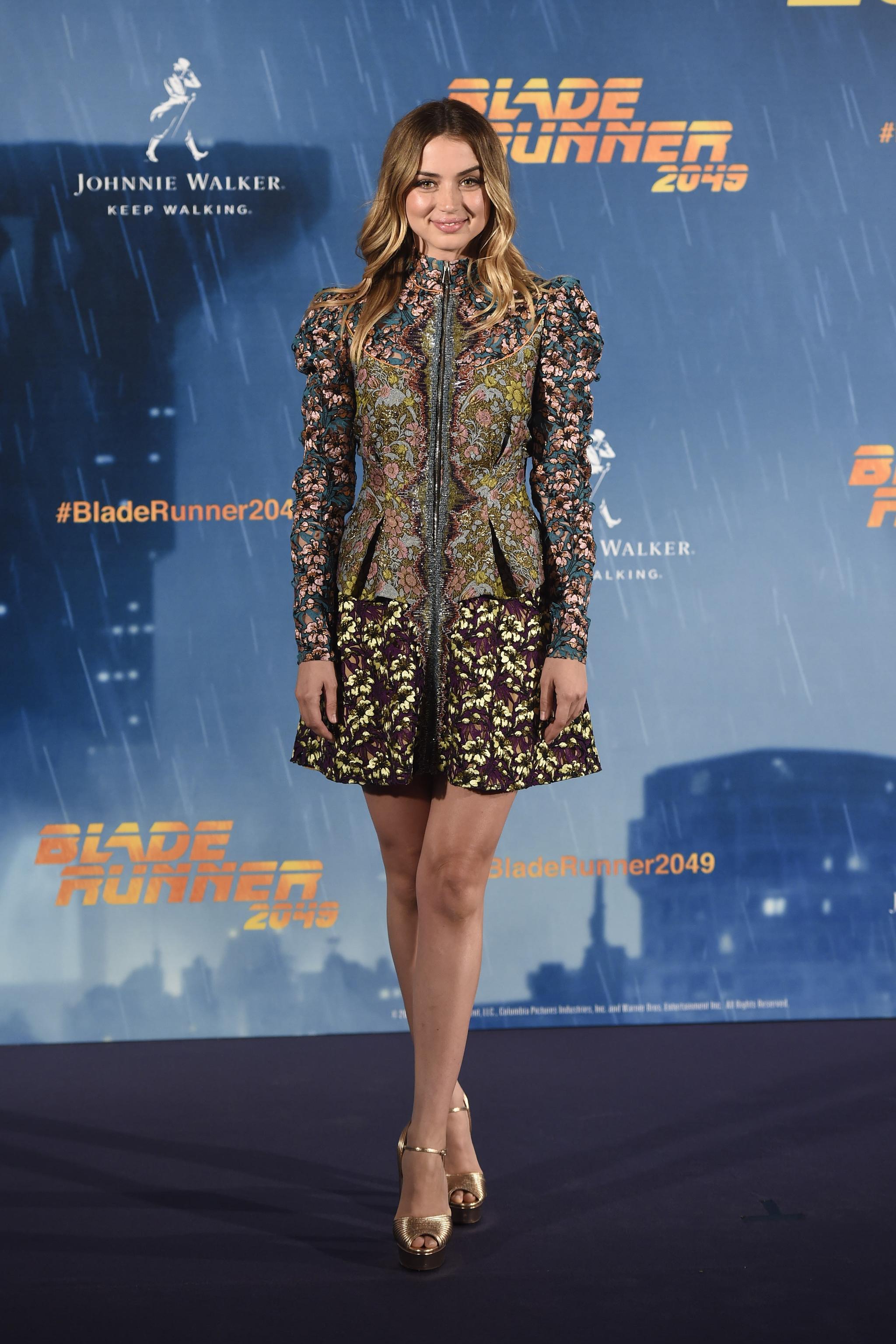 Ana de Armas durante la presentación de Blade Runner 2049 en Madrid.
