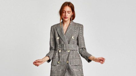 La blazer vestido de Zara