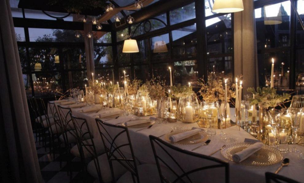 La mesa de la cena de TELVA y CHANEL, decorada por Araventum