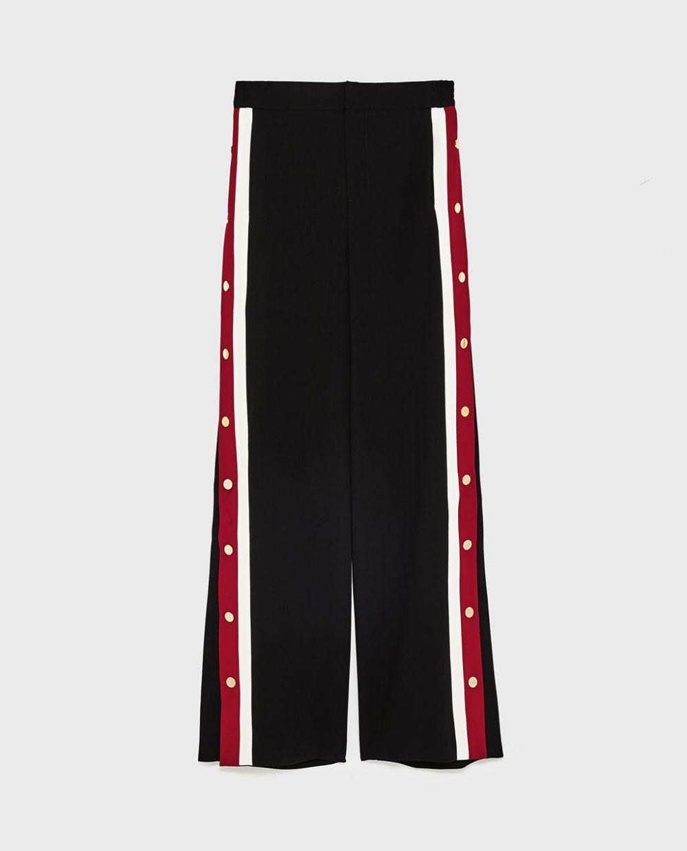 Pantalón sport de Zara (49,95 euros).