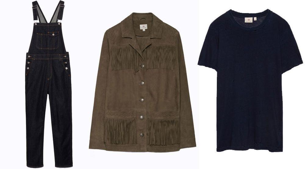 Algunas de las prendas que luce la modelo durante el spot de AG Jeans