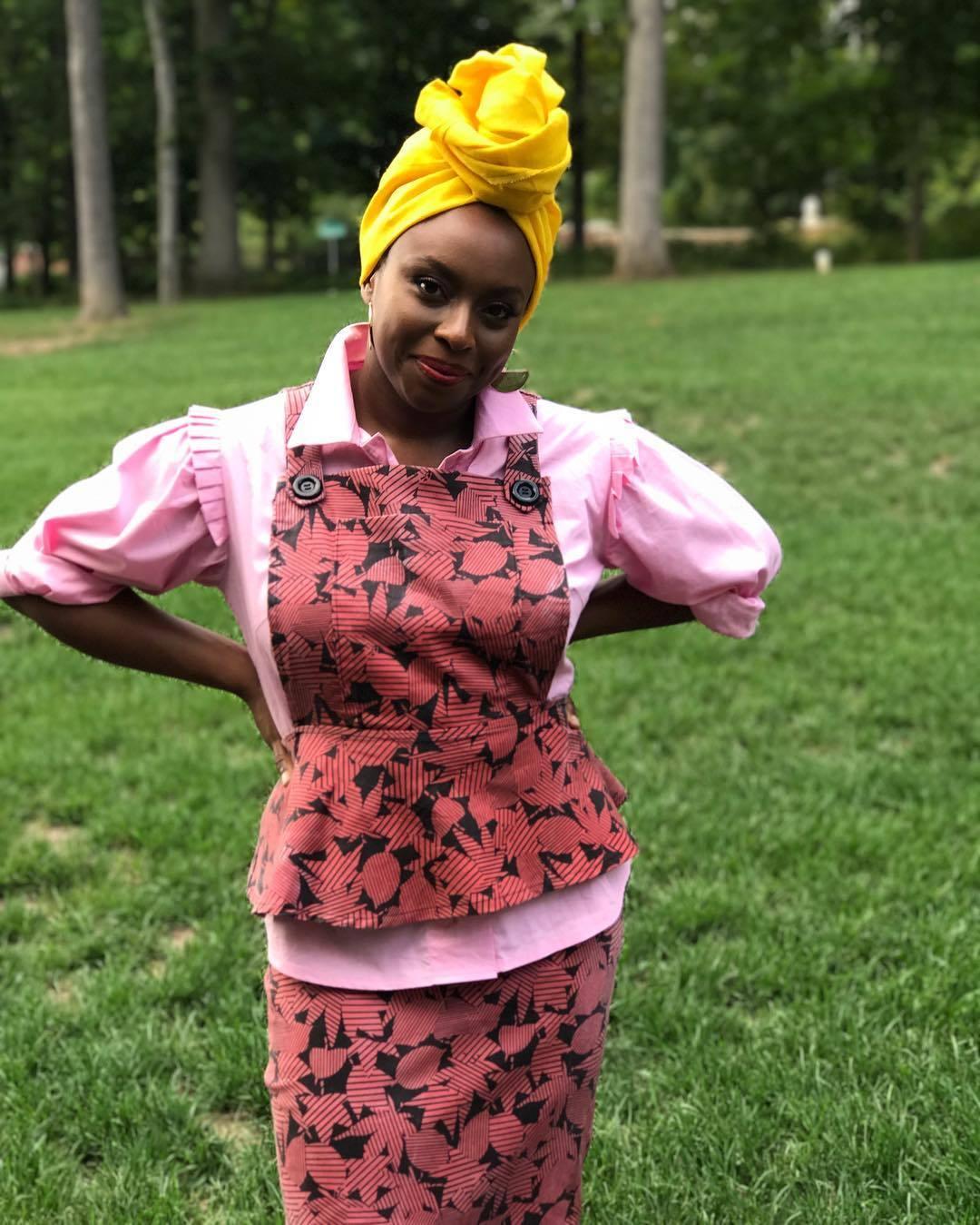 Chimamanda Ngozi en una imagen de su cuenta de Instagram