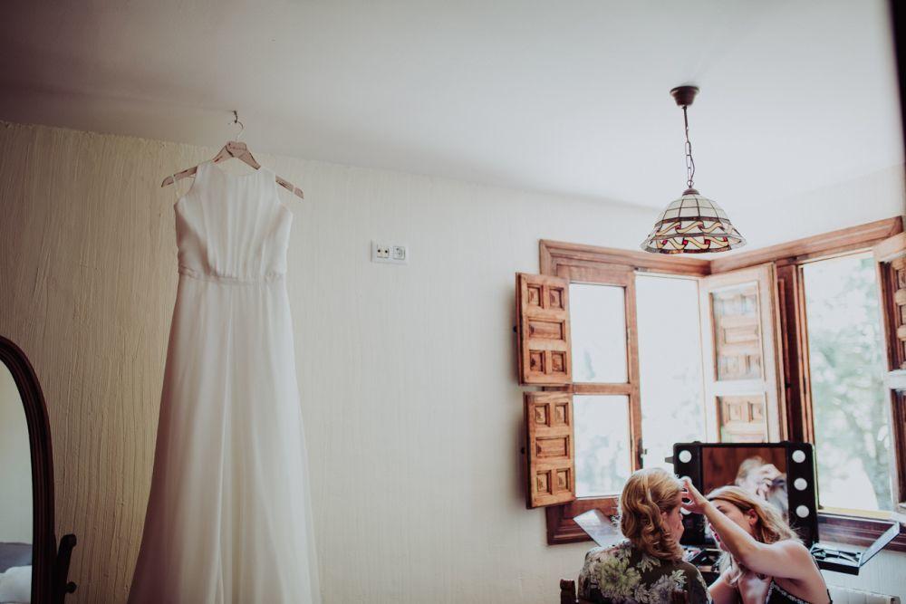 La novia eligió un vestido del diseñador Jesús Peiró.