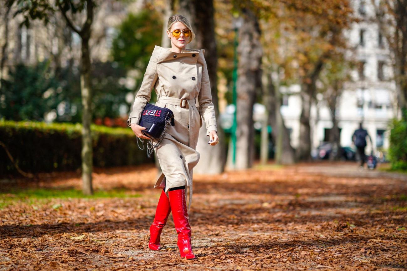 Las botas rojas son la revolución del otoño.